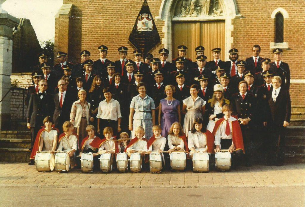 1979 groepsfoto koninklijke harmonie sint-cecilia gingelom