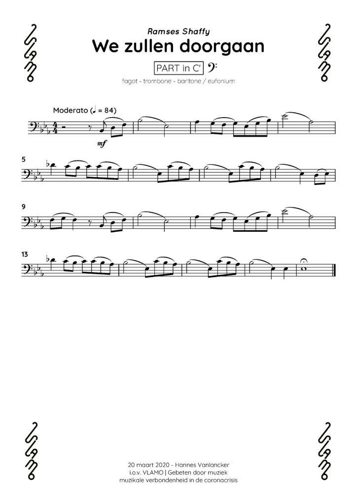 Fagot trombone baritone eufonium